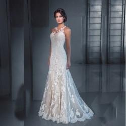 robe de mariée sirène en dentelle fine
