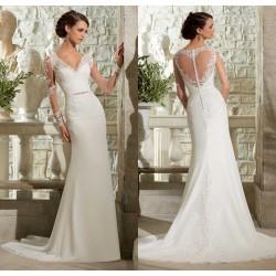 robe de mariée bohème fourreau