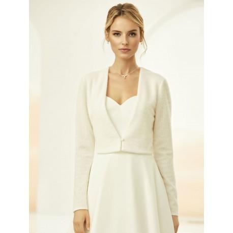 Boléro de mariée en laine
