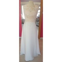 robe de mariée ivoire et beige