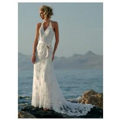 Robe de mariée fluide en dentelle