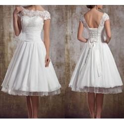 robe de mariée courte avec dentelle