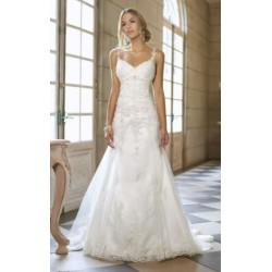 Robe de mariée évasée en dentelle