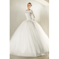 robe de mariée manche en dentelle