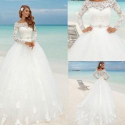 robe de mariée princesse plage