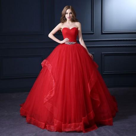 Robe De Mariee Princesse Rouge