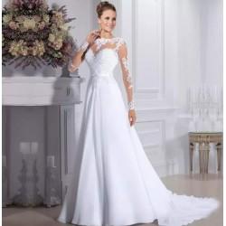 Robe de mariée bohème glamour manches longues