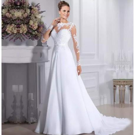 Robe de mariée glamour bohème